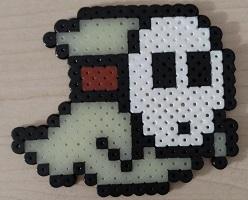 Glow in dark-shy guy-fuse beads-thumbnail