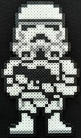 Star Wars-Storm Trooper- Bead Sprite- Pixel art -craft-thumbnail